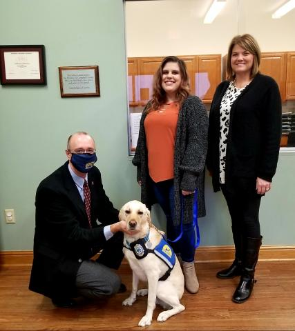 Pictured left to right are: District Attorney General Jared Effler, MacKenzie Adkins, and Tracie Davis.