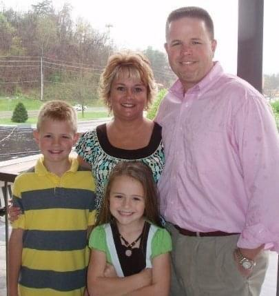 Brad Griffey pictured with wife Laura, son Weston, and daughter Kailyn