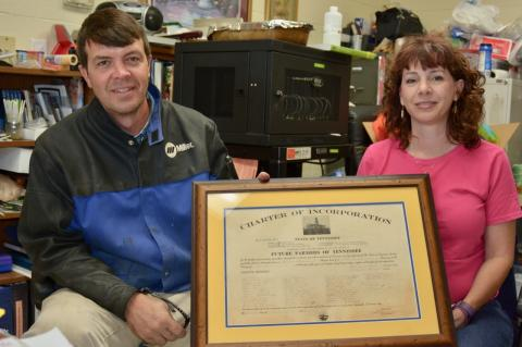 Union County High School agriscience and agriculture instructors John Fugate and Linda Baxter
