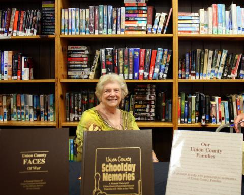 Bonnie Heiskell Peters, Union County Historian at past year's Authors Rally