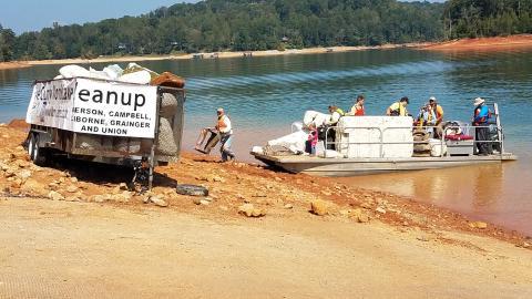 Norris Lake Cleanup at Oak Grove