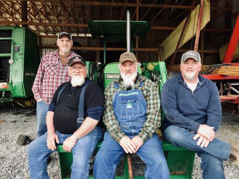 Pictured Left to Right - Randy, Len, Allen, and Wendell Padgett