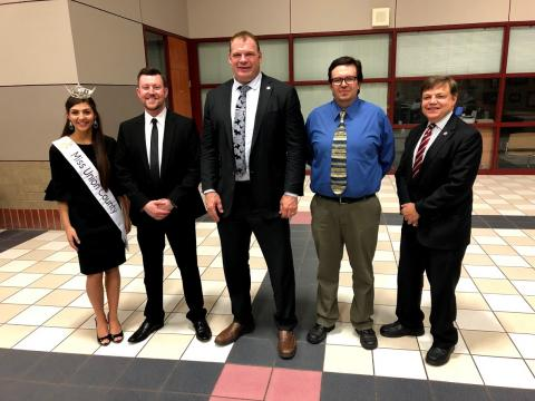 Left to Right: Miss Union County Katelyn Little, Mayor Jason Bailey, Mayor Glenn Jacobs, Chamber President Thomas Skibinski, Representative Dennis Powers