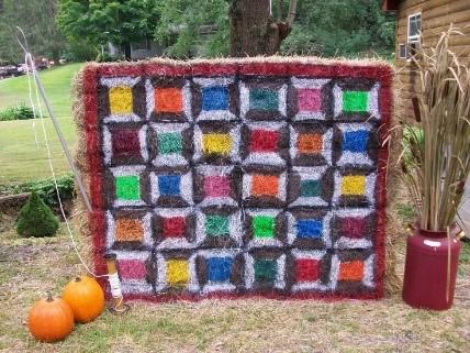 A Quilt Trail of Hay Bales