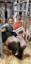Abigail Foust, Grand Champion Senior Level I Showmanship at the Region Show
