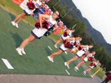 Homecoming in Union County cheerleaders