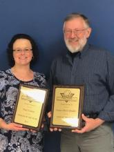 Gail Corum and Rick Riddle 2018 BPA Woman and Man of the Year