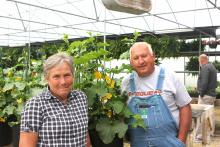 Debbie and Dale Corum at Tater Valley Nursery