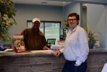 Luttrell Mayor Johnny Merritt with Union County Chamber of Commerce president Thomas Skibinski
