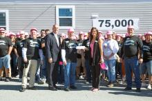Clayton Homes raised $5,000 for Susan G Komen breast cancer awareness.