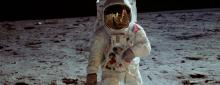 Picture of Moon walk on apollo 11