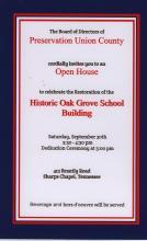 Oak Grove is located at the intersection of David and Brantley Roads in Sharps Chapel.