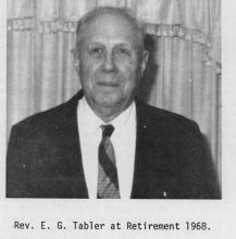 Remembering Blaine and the Reverend E. G. Tabler