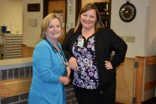 Dr. Nancy Witherspoon and Rebecca Mills of Willow Ridge Center in Maynardville
