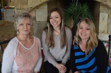 My mom, Gail Bradley, my daughter Sara, and myself.