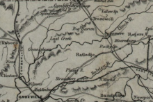 Civil War Map of East Tennessee